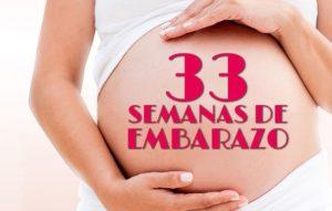 semana 33 embarazo dolor regla