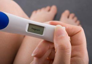 test de embarazo por la tarde